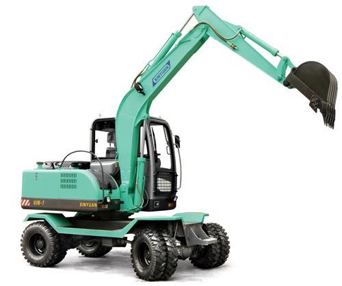 供应新源双驱动挖掘机,国产轮式挖掘机,360度小型挖掘机