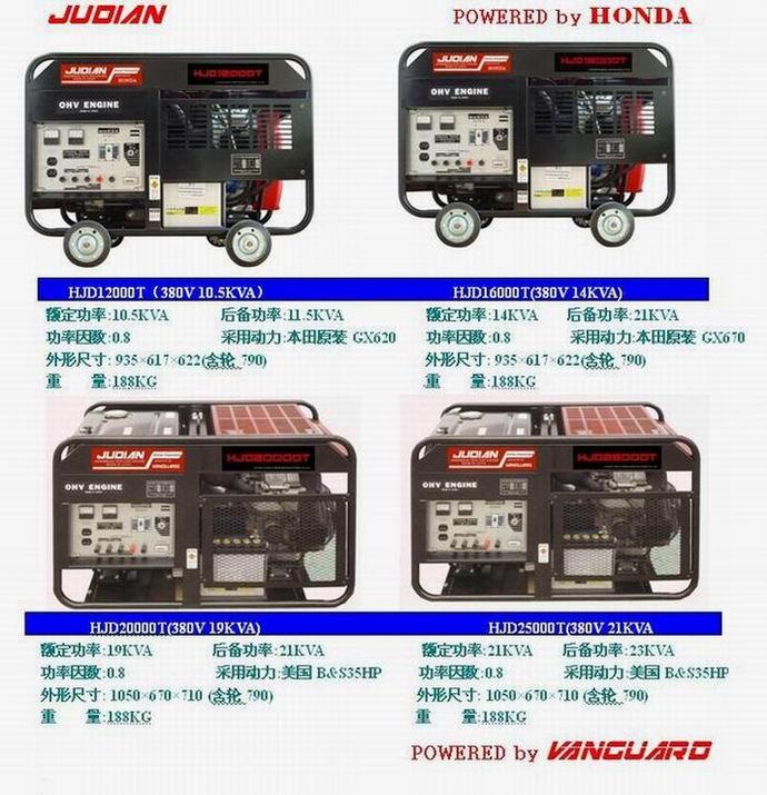 380V 11-21KW本田汽油发电机