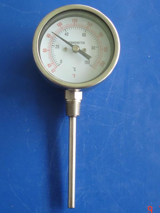 径向全不锈钢压力式温度计