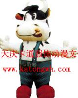 卡通服装道具卡通表演服装动漫行走人偶服饰蒙牛