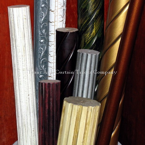 美规实木窗帘杆