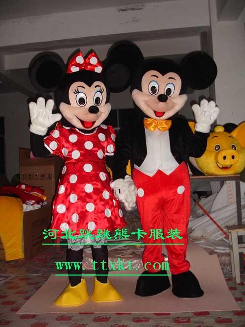 河北跳跳熊卡通服装海南表演卡通服装迪士尼米老鼠