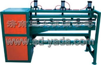 太阳能热水器生产线设备:YD-3气动内桶滚动压筋机