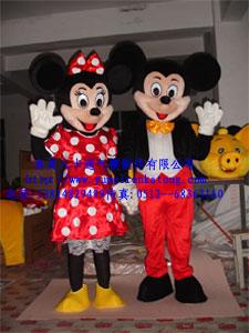 供应上海卡通服装,卡通喜庆米老鼠服装,卡通毛绒玩具服装,露脸服装
