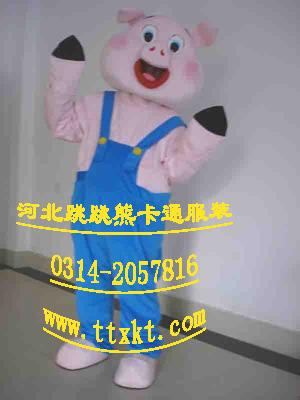 河北跳跳熊卡通服装辽宁表演卡通服装胖胖猪