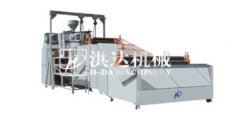 供应硬质塑料平网机 塑料硬网设备 空调防尘网机械