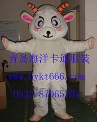出售山东青岛海洋卡通服装动漫毛绒卡通小白羊