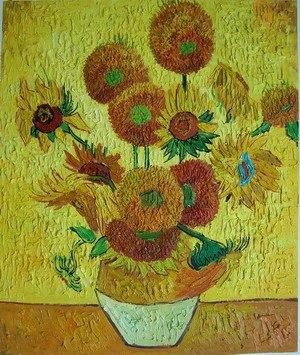 梵高向日葵油画
