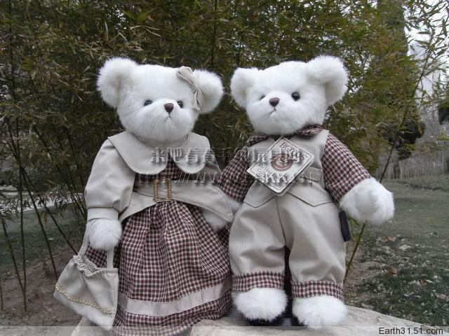 田园风情情侣泰迪熊 正版BOYDS