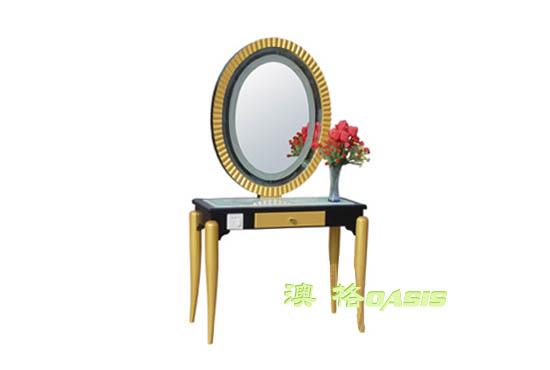 单面圆形化妆台
