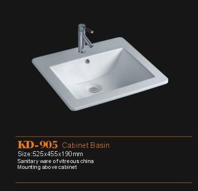陶瓷薄边柜盆KD-905