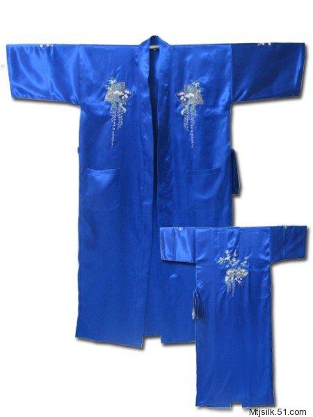 仙鹤风景画男女通用刺绣浴衣