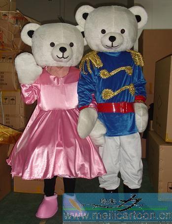 供应卡通情侣泰迪熊|卡通服装|卡通人偶服装