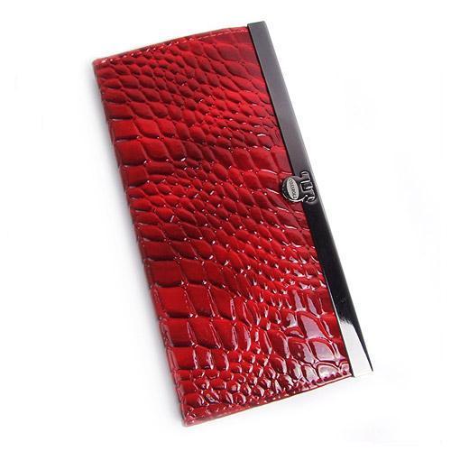 PVC、PU石头鳄鱼纹夹子钱包