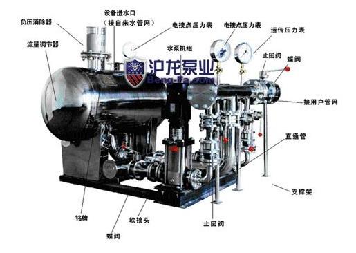 不锈钢无负压变频调速给水设备