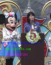江苏苏州加菲卡通服装道具卡通表演服装动漫行走人偶服饰米老鼠