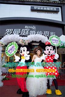 供应无锡卡通服装,卡通婚庆米老鼠服装,卡通玩偶,卡通毛绒公仔