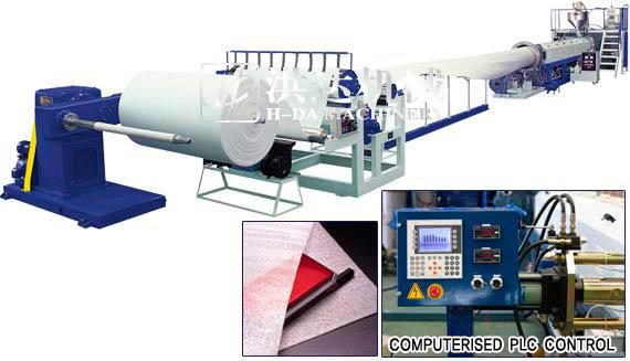 EPE发泡布生产线,EPE发泡片设备,珍珠棉机械,塑料发泡机械