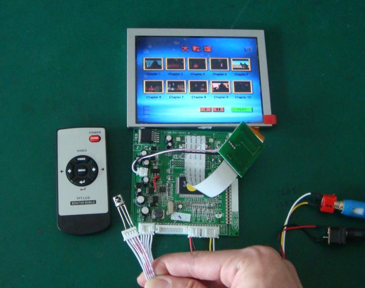 厂家长期供应5寸液晶屏及AV、VGA驱动板