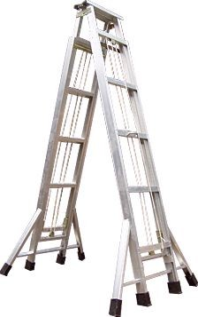 铝合金升降梯子 铝合金人字梯子 铝合金人字升降梯子