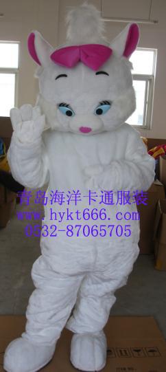 出售山东青岛海洋卡通服装,淄博毛绒卡通服装玛丽猫