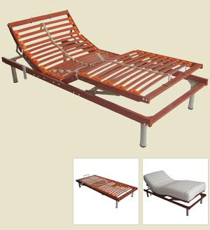 樱桃木色电动床架
