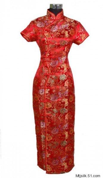 织锦缎旗袍