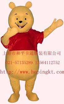 上海卡通服装/卡通人偶/维尼熊