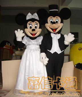 供应卡通婚庆米老鼠|卡通服装|卡通人偶服装|卡通人偶制作