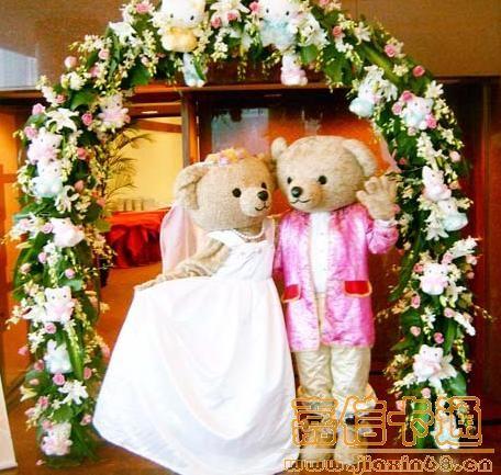 供应卡通婚礼泰迪熊|卡通服装|卡通人偶服装|卡通人偶制作
