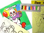 杭州莎恩工厂供应沙画,儿童沙画,彩绘沙画