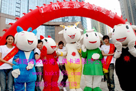 出售福建海峡卡通服装/酒泉迪士尼动漫表演卡通服饰/亚运会五羊