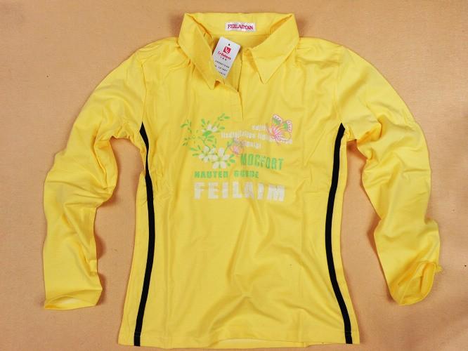 2010新款翻领T恤,全拉架棉,女士长袖T恤12元全球最低价批发