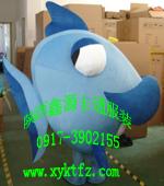供应新疆卡通人偶服装,节日庆典卡通服饰深海鱼