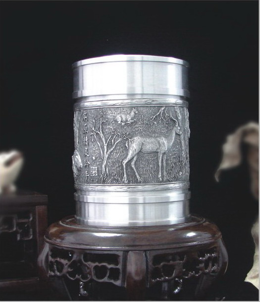 锡茶叶罐-高原精灵