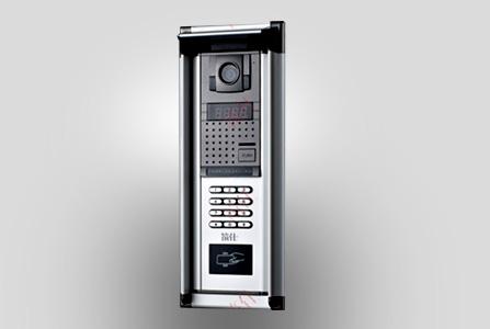 筑仕品牌铝合金外壳单防区联网对讲主机安全性能高