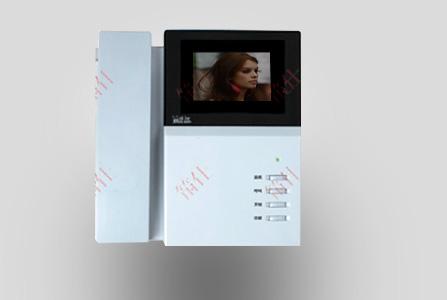 筑仕品牌白色外壳彩色可视分机可主动接听和免提接听