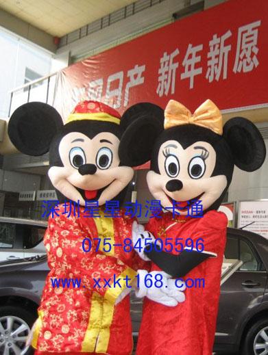 供应深圳星星卡通服装/唐装米老鼠