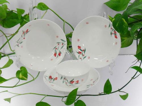 新安陶瓷,新安银叶--镁质日用陶瓷餐具/12件套XB0001