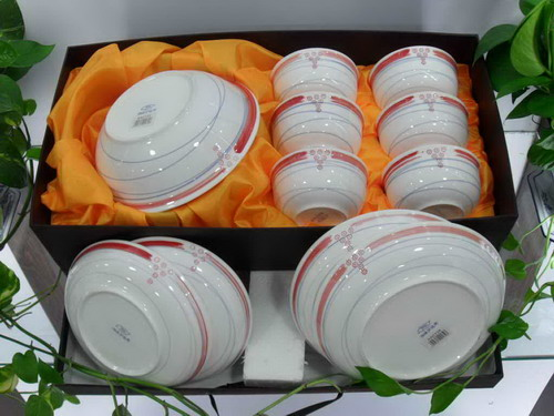 镁质日用陶瓷餐具/11件套XC0053