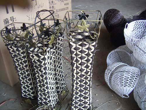 铁艺,花瓶,手工编织