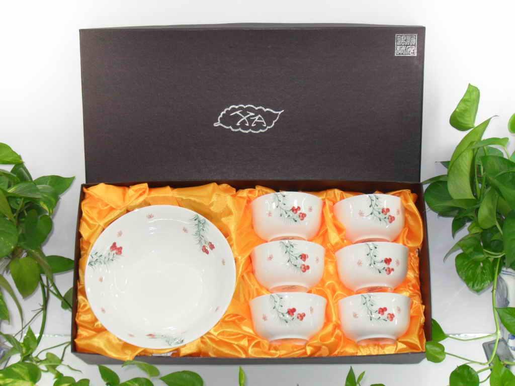 新安银叶  彩盒餐具套装