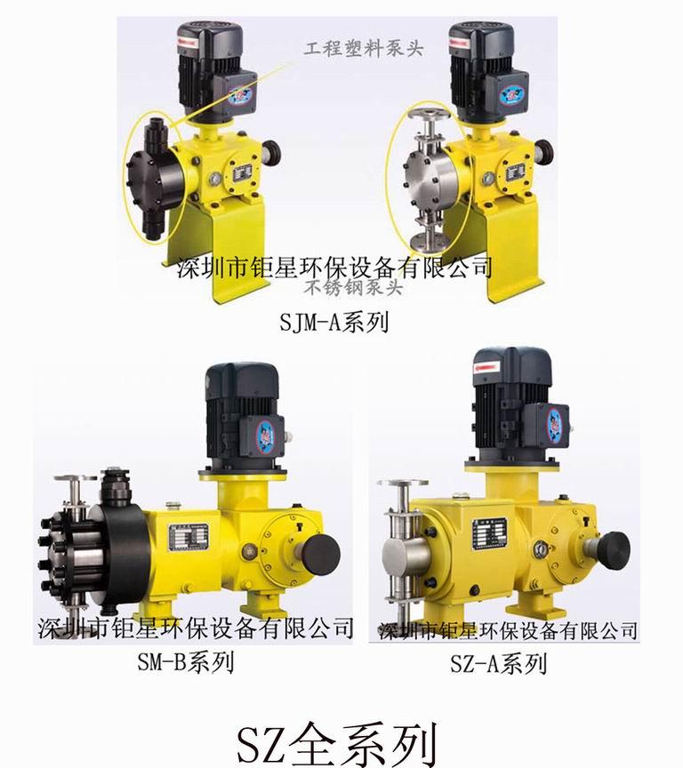 SZ(顺子)柱塞/机械隔膜/液压隔膜计量泵