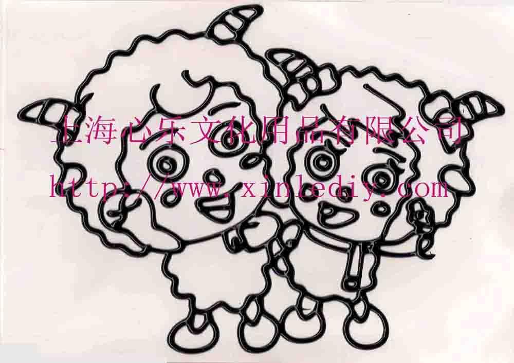 塑胶画 橡胶画 烤焦画 儿童胶画 上海心乐彩胶画批发