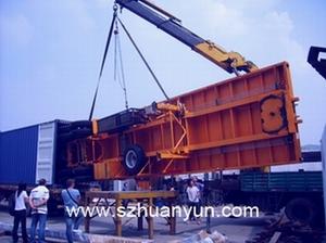 深圳环运专业大型机器精密设备装货柜装集装箱框架箱开顶箱平板柜框架