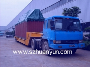 OT、FR特种集装箱特种柜拖车运输 超高框架柜运输超高开顶柜运输