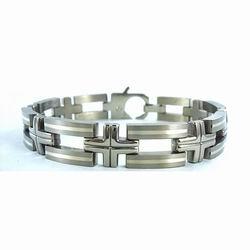 银魂恋语(YSL1-212A)925纯银钛手链生产厂家