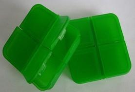 正方形四格药盒