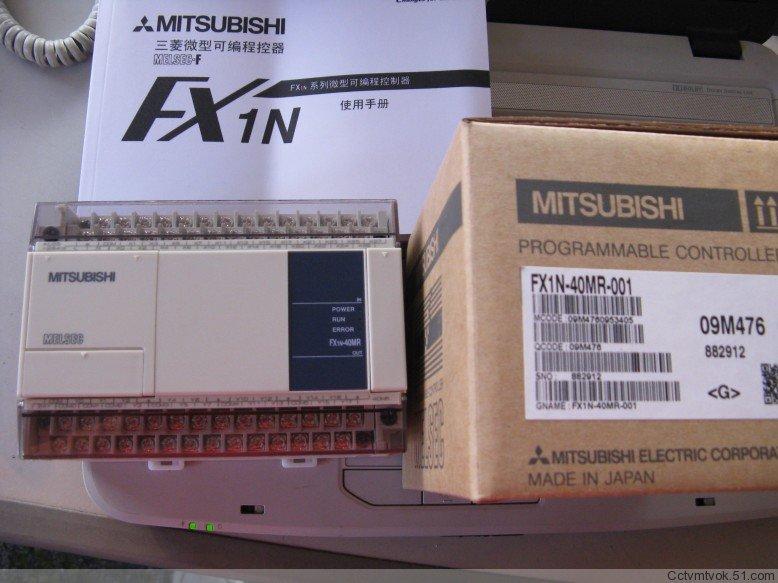 原装三菱PLC,FX1N-40MR-001,质保一年!
