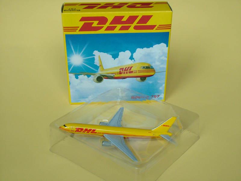 供应金属飞机模型B757DHL